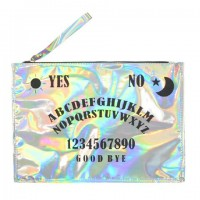 Stylish Women's Clutch With Letter Print and Zipper Design